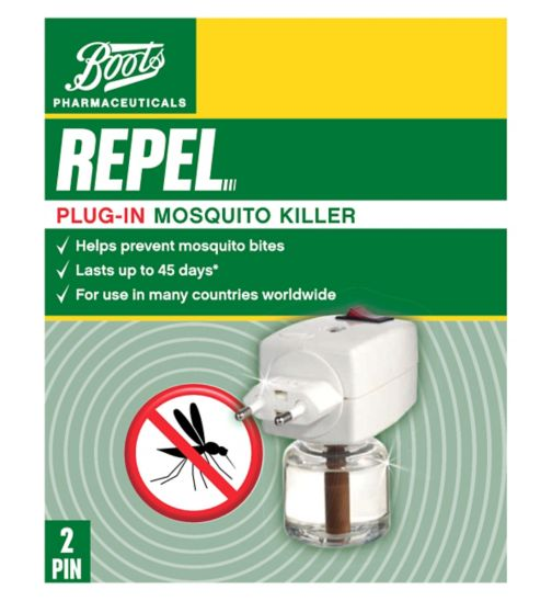 Boots Pharmaceuticals Repel 2 Pin Plug-In Mosquito Killer