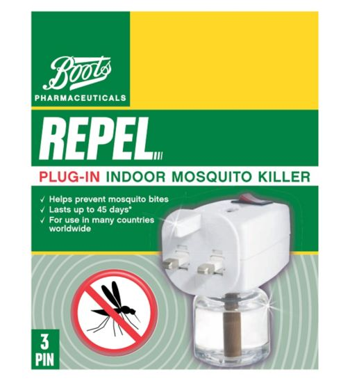 Boots Pharmaceuticals Repel 3 Pin Plug-In Mosquito Killer