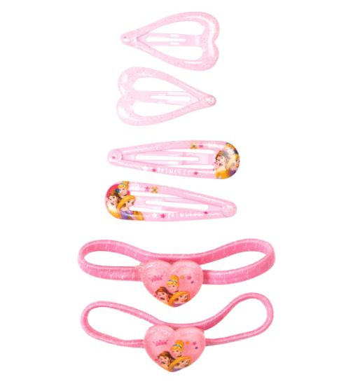 Princess Elastics & Snap Clips Set 6 Pack