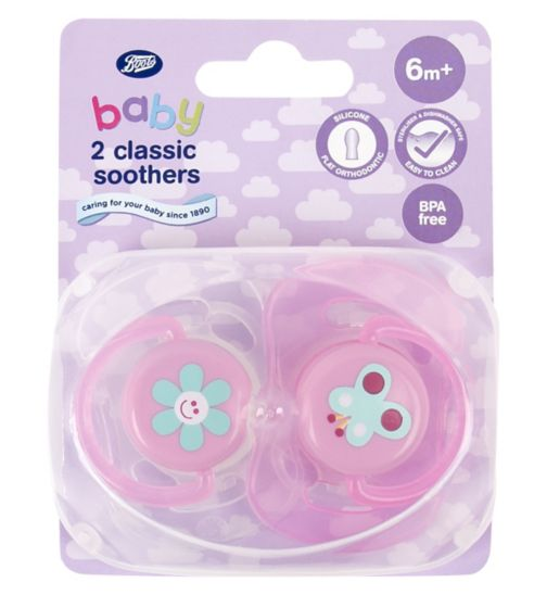 Boots Baby Classic Soothers 6-18 months - Pink