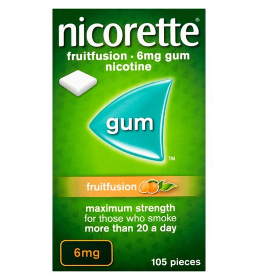 Nicorette Fruitfusion 6mg Gum - 105 Pieces
