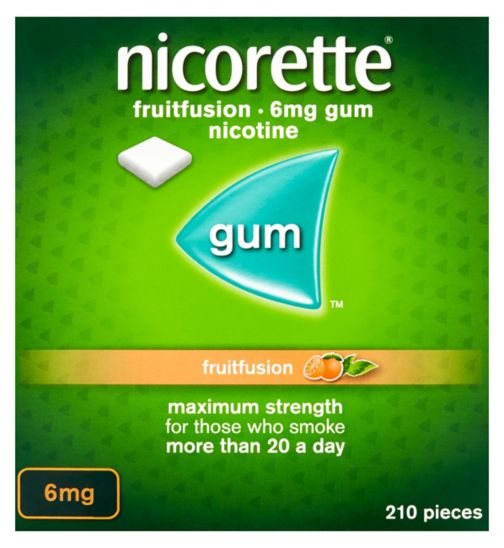 Nicorette Fruitfusion 6mg Gum - 210 Pieces