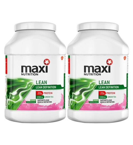 MaxiNutrition Lean Protein Powder Strawberry Flavour - 1kg;MaxiNutrition Lean Protein Powder Strawberry Flavour - 1kg x 2;Maxinutrition lean strawberry 1000g
