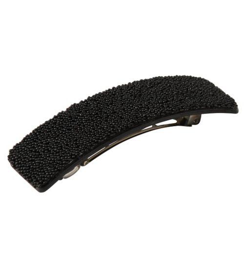 Scunci Style Barrette Black Caviar