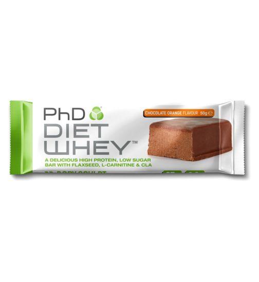 PhD Diet Whey Chocolate Orange Bar 50g