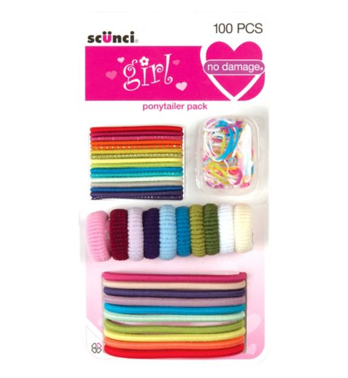 Scunci Girl Bumper Mixed pack 100 pack