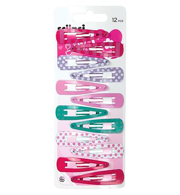 Scunci Girl Snap Clips Pastel 12 pack