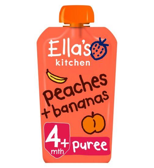 Ella's Kitchen Peaches + Bananas from 4 Months 120g