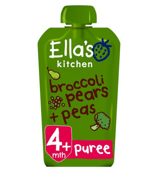 Ella's Kitchen Broccoli Pears + Peas from 4 Months 120g