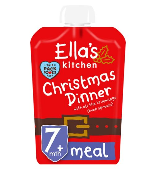 Ella's Kitchen Jingle Belly Christmas Dinner with All the Trimmings Even Sprouts from 7 Months 130g