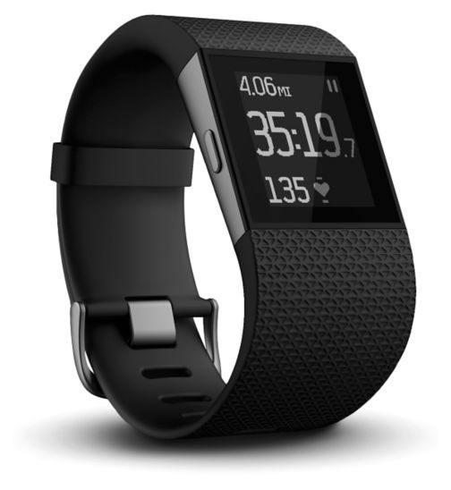 Fitbit Surge Fitness Super Watch Black - Large