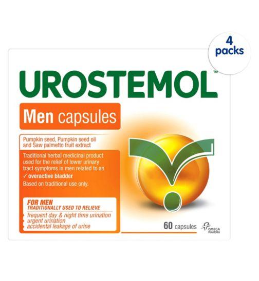 Urostemol Men Capsules - 4 x 60 capsules