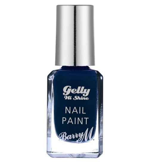 Barry M Gelly High Shine nail paint Black Grape 10ml