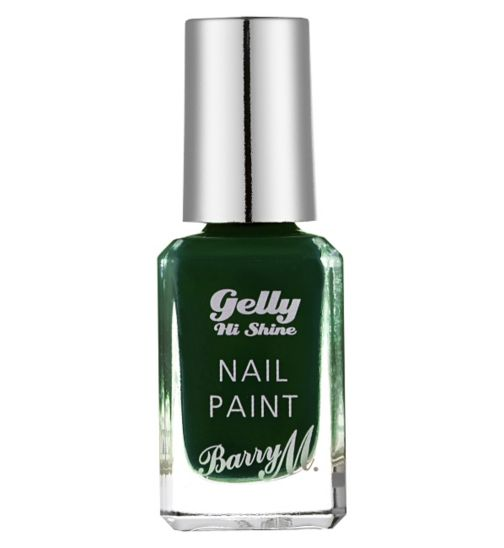 Barry M Gelly High Shine nail paint Black Pistachio 10ml
