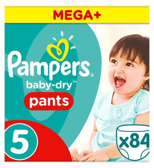 Pampers Baby-Dry Pants Size 5, 12-17kg, 84 Nappy Pants