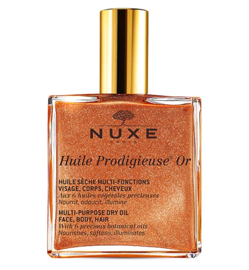 Nuxe Huile Prodigieuse® 100ml- Shimmering Multi-purpose dry oil for face body and hair