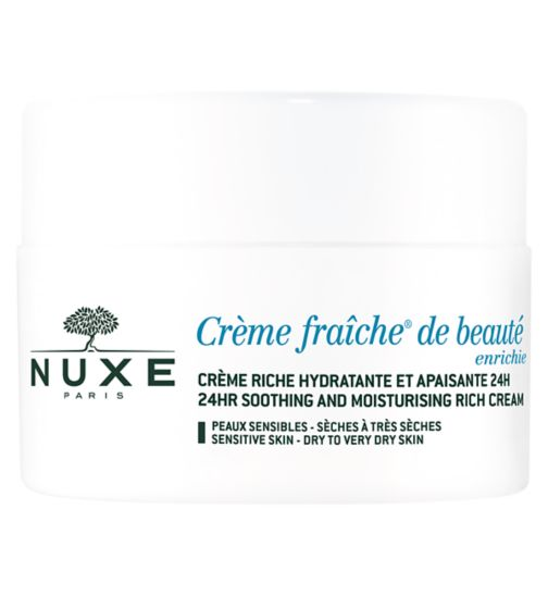 Nuxe Crème Fraîche de beauté Enriched - 24HR Soothing and Moisturising rich cream   | Dry sensitive skin |
