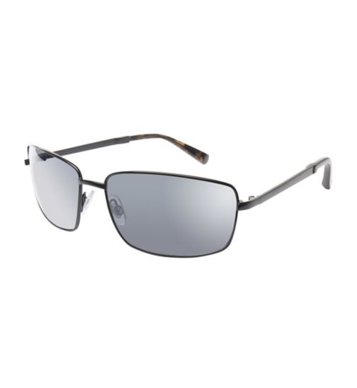 Boots Mens Black Aviator Sunglasses with Grey Tips