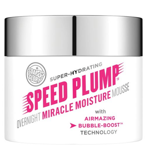 SOAP & GLORY ™ SPEED PLUMP ™ OVERNIGHT MOISTURE MOUSSE