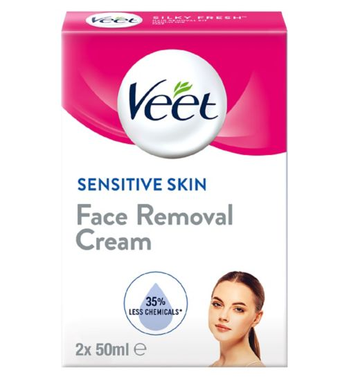 Veet Face Hair Removal Kit, Sensitive Skin, 2x50ml