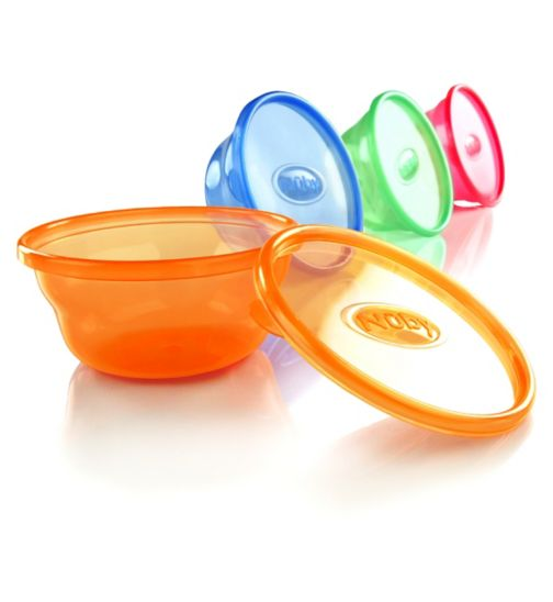 Nuby Wash n Toss Bowls with Lids