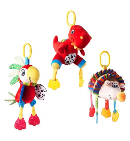 Nuby Plush Pets - Parrot and Hedgehog