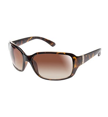 Boots Womens Polarised Tort Sunglasses with Gold Trim