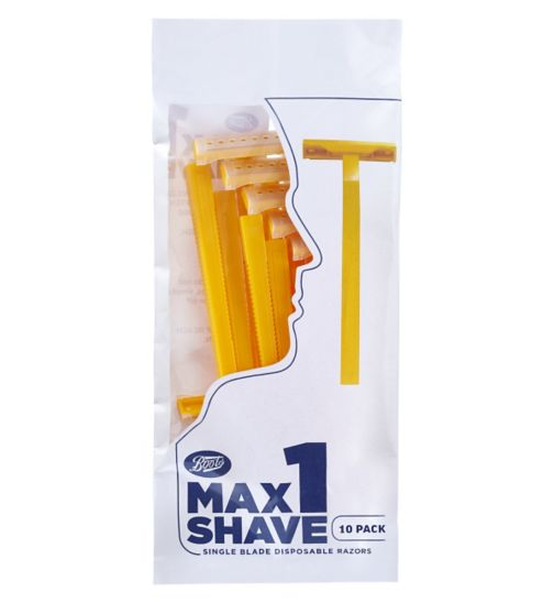 Boots Max Shave 1 Blade disposable 10 pack