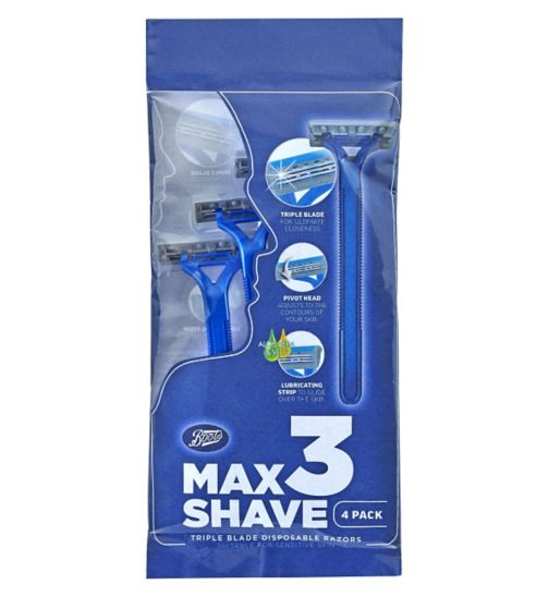 Boots Max Shave 3 Blade Disposable 4 Pack