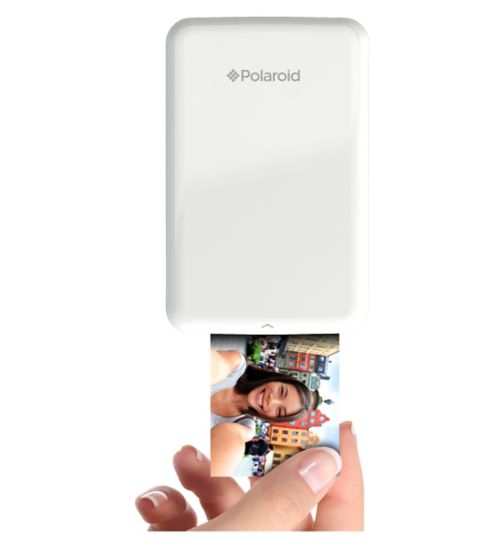 Polaroid Zip Instant Print Mobile Printer & 10 ZINK Film Shots - White - Boots
