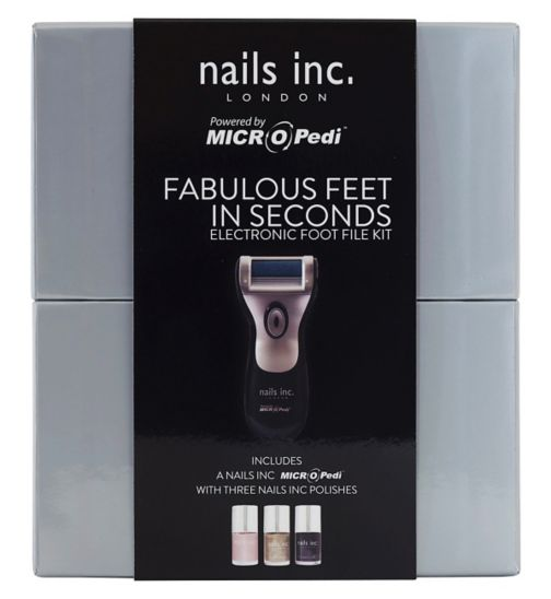 Micro Pedi Nails Inc Fabulous Feet in Seconds Electronic Foot File Kit