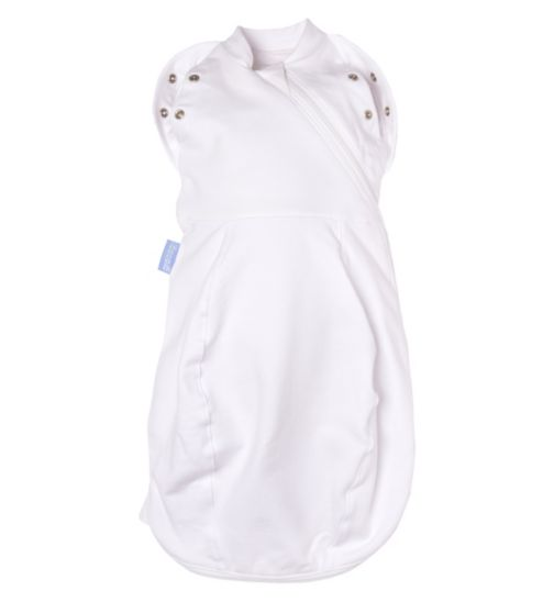 Gro-Snug Swaddle and Newborn Grobag - Pure White - Light