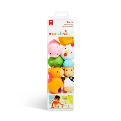 Munchkin Squirtin Farmyard Friends Bath Toys- 8 Pack
