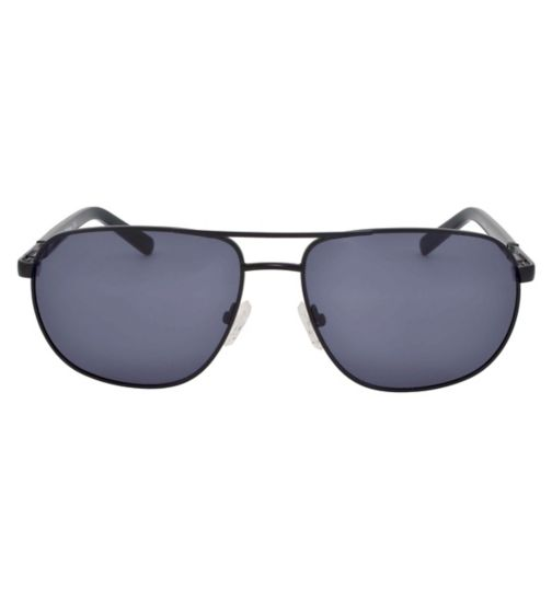 Barbour Black Aviator Sunglasses with Half Black Arms