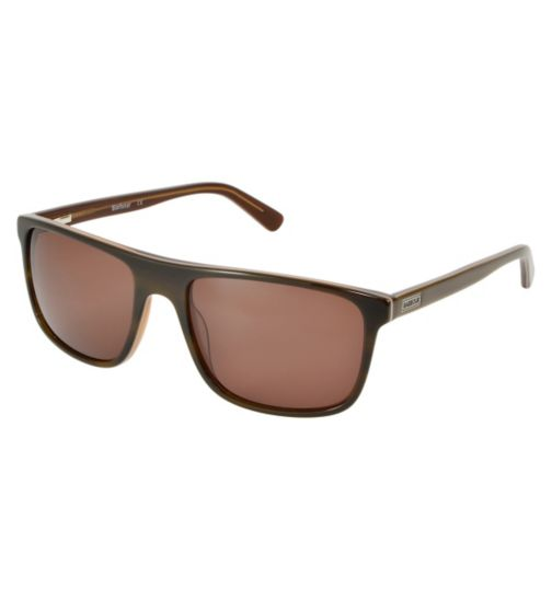 Barbour Classic Brown Sunglasses with inlay detail