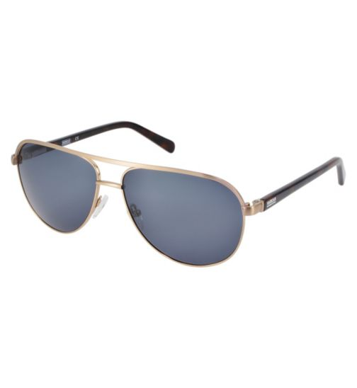 Barbour International Brushed Gold Wayfarer Sunglasses