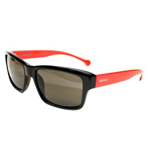 Converse Black Wayfarer Sunglasses with Red Arms
