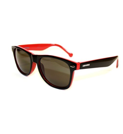 Converse Black and Red Wayfarer Sunglasses