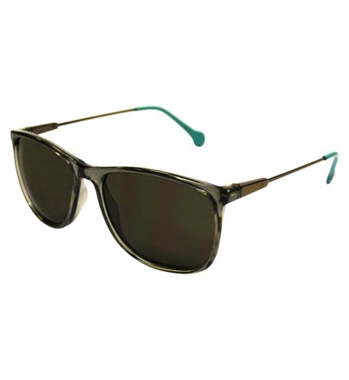 Converse Black Wayfarer Sunglasses with Blue Tip Arms
