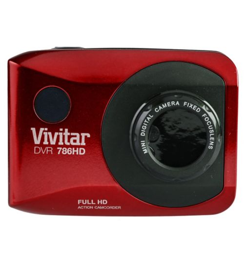 Vivitar DVR786HD Action Cam - Red
