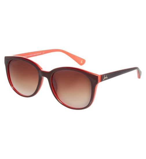 Joules Womens Red and Brown Classic Wayfarer