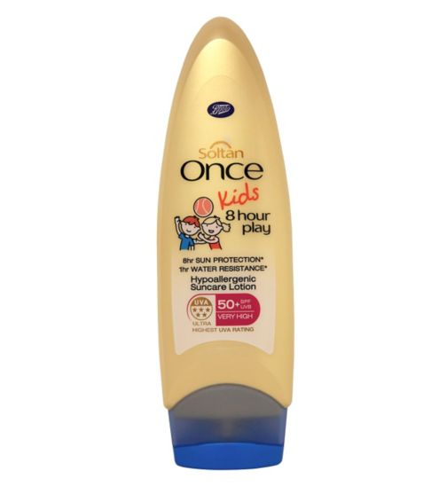 Soltan Once Kids 8 Hour Play Hypo-allergenic Suncare Lotion SPF 50+ - 1 x 200ml