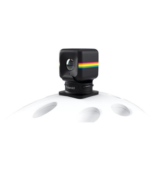 Polaroid Helmet Mount for the Polaroid CUBE HD Action Lifestyle Camera – Universal Fit for All Helmet Models