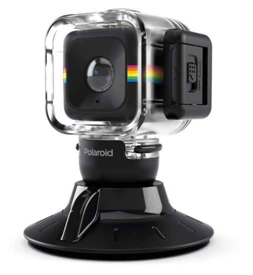 Polaroid Cube Waterproof Case and Suction Mount Combo