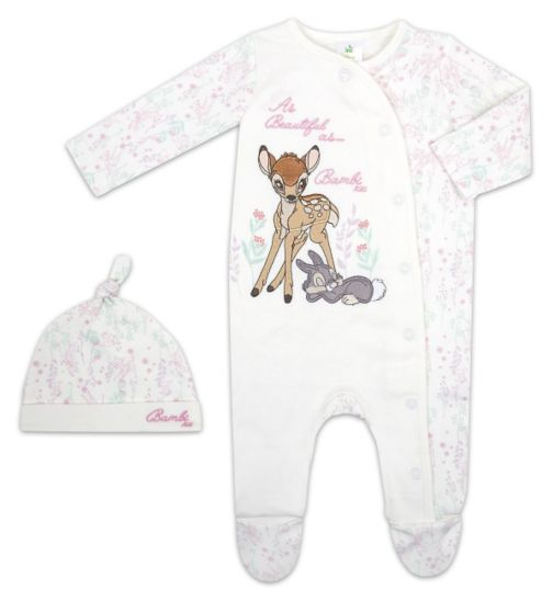 Mini Club Baby Girls All In One and Hat Bambi