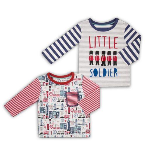 Mini Club Baby Boys 2 Pack Tshirts
