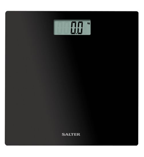 Salter Ultra Slim Black Glass Electronic Scale 9069