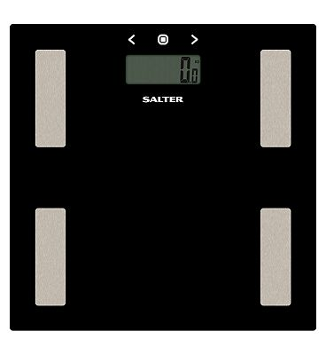 Salter Black Glass Body Analyser Scale 9150