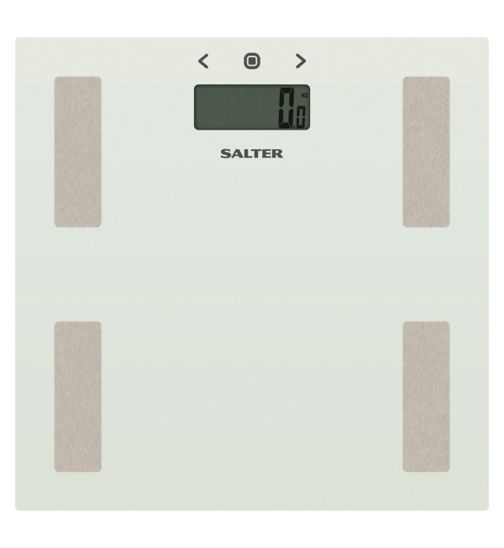 Salter White Glass Body Analyser Scale 9150