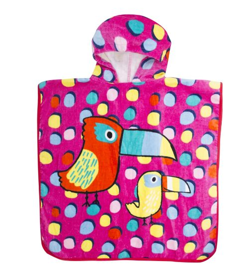 Mini Club Girls Towel Poncho Toucan